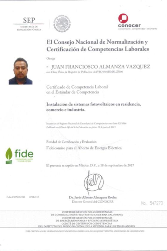 Certificaciones - Solar 7